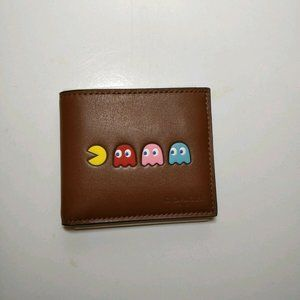 Coach PAC-MAN Motif ID Billfold Saddle Brown